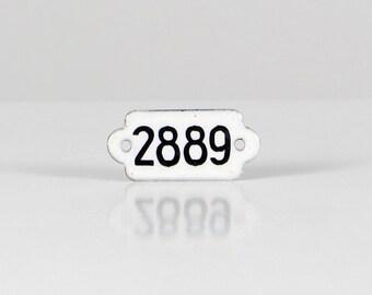 Metal drawer fitting, metal number fitting, white black number, number fitting, drawer number fitting