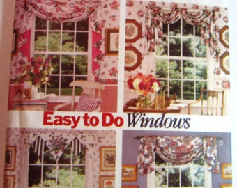 Easy Sew Window Scarves 4 Styles Waverly Butterick Pattern 3395 UNCUT
