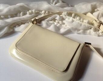 Liz Claiborne Mini Cross Body / Shoulder Bag / Cream Color