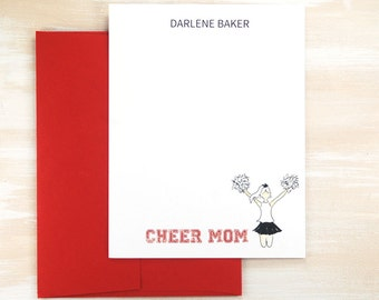 Cheer Mom, Cheer Gifts, Stationery Set, Cheer Coach Gift, Girls Stationery, Personalized Stationary Set, Kids Stationery Set