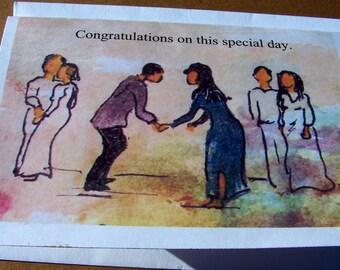 Mariage ou fiançailles carte Félicitations vide intérieur doté d'une enveloppe