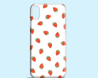 Small Strawberries phone case / Cute iPhone X case, iPhone 8, iPhone 7, iPhone 7 Plus, iPhone 6, iPhone SE, Samsung Galaxy S7, S6, S6 Edge