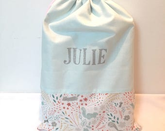Personalized DrawString cotton pouch