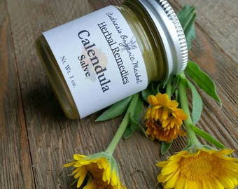 Organic Calendula Salve, Natural Calendula Salve, Organic Calendula Balm, Wound Salve, Herbal Salve for Skin Inflammation, Organic Salve