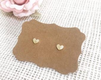 Dainty Heart Earrings ~ Silver/Gold