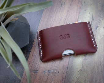 Personalised Italian Leather Card Holder, Card Wallet, Business Card Holder, Minimalist Wallet, Gifts For Him, Leather Card Case