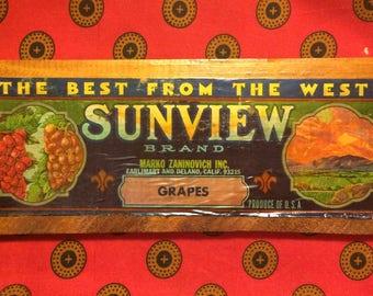 vintage fruit box art