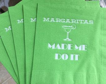 cinco de mayo, Margarita, Margaritas made me do it, happy hour, napkin, bar cart, summer party, margarita party, salt lime tequila, mexican