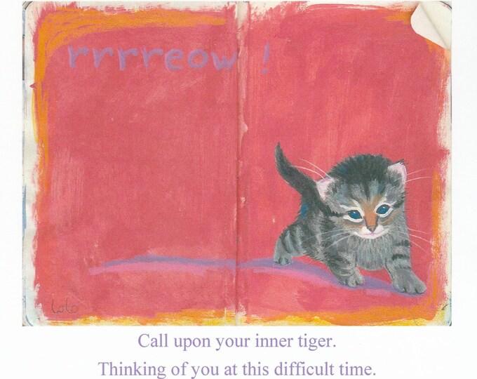 Inner Tiger encouragement support card