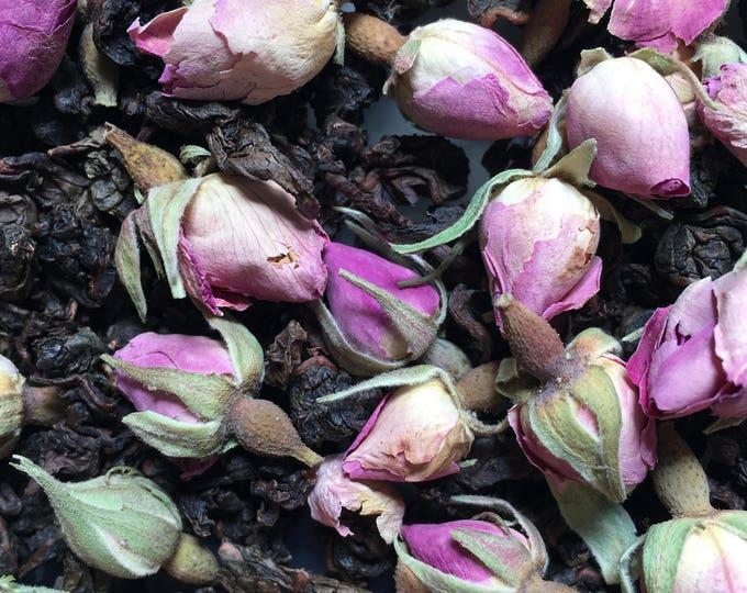 Oolong Rose Herbal Loose Tea Oolong Tea 2 oz rose flower and white tea leaves