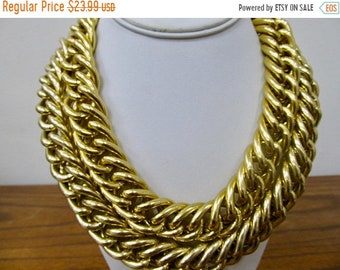 On Sale ANNE KLEIN Chunky Link Double Chain  Necklace Item K # 3253