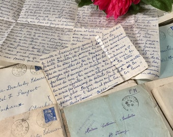 Bundle of French Vintage Letters