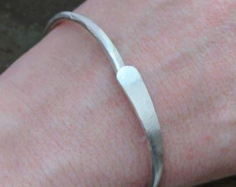 hammered silver cuff bracelets, adjustable bracelet, everyday bracelet, minimalist bracelet, mens bracelet, gift-- token by thebeadedlily