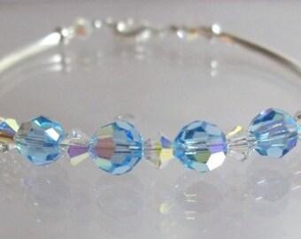 Kids March Birthstone  Bracelet - kids bracelet - childs bracelet- kids birthstone bracelet - childs march  bracelet, girls bracelet