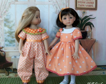 "PDF Sewing Pattern - Orange Blossom - for Dianna Effner 13"" Little Darlings  or Hearts to Hearts"
