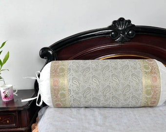 Indian Designer Bolster Pillow Sofa Cushion Cover