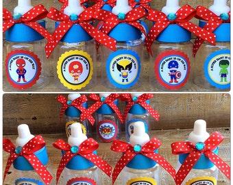 """12 small 3.5"""" super hero baby shower-super hero baby shower favor-baby super heroe baby shower- boy baby shower-baby super hero party favor"""