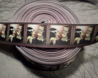 Frankenstein and Bride Horror Movie Monster Grosgrain ribbon, horror ribbon