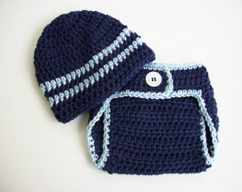 Newborn Baby Boy Outfit, Newborn Boy Coming Home Outfit, Newborn Photo Outfit, Crochet Baby Outfit, Baby Gift for Boy, Crochet Baby Boy Hat
