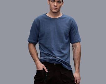 Organic Hemp Tee - Eco T shirt - Navy blue