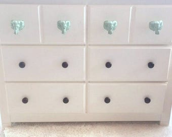 Elephant Knob - Drawer Pull - Cabinet Knob - Safari Nursery - Dresser Knob - Elephant Decor - Nursery Decor - Animal Knob - Elephant Drawer