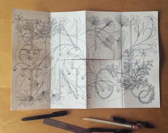 Mini Botanical Inklings Watercolor Coloring Book