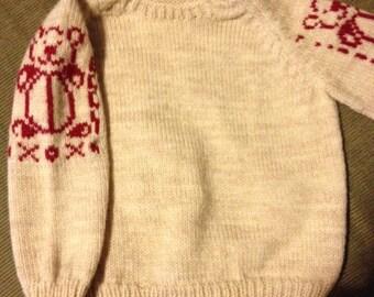 Loving Teddy Bear sweater xoxo