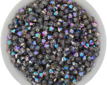 Blue Sphinx (4mm) Swarovski Crystal 5328 Xilion Bicones