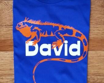 Personalized reptile birthday shirt for boys, lizard birthday shirt