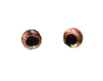 6mm Glass Eyes - Fish - Glass Eyes - Red