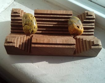 Pair of Bumble bee jasper pieces... 2 piece set!