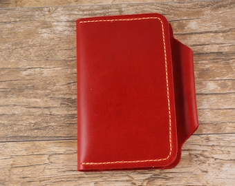 Leather Notebook Cover with Pen Loop for Field Notes, Moleskine or Similar Sized Notebook. Handmade in USA! Free Shipping in USA