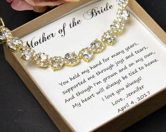 CUSTOM color -Mother of the Bride Gift mother of the bride Wedding jewelry Mother of the bride Wedding Bracelet Mother of the Bride Bracelet