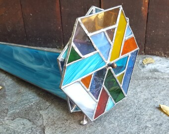 Stained Glass Kaleidoscope Handcrafted