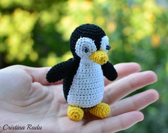 Penguin toy, tiny plush, crochet penguin, baby shower gifts, keychain penguin, cute gift for friends, amigurumi doll