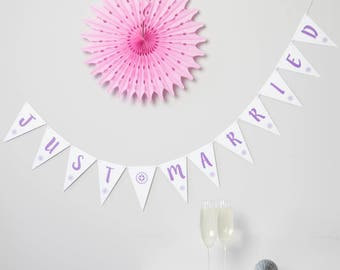 Just Married Bunting // Just Married // Wedding Bunting // Wedding Banner // Wedding Decoration // Just Married Banner