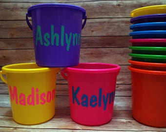 Personalized Buckets / Easter Buckets / Personalized Easter Basket / Personalized Pail / Easter Pail