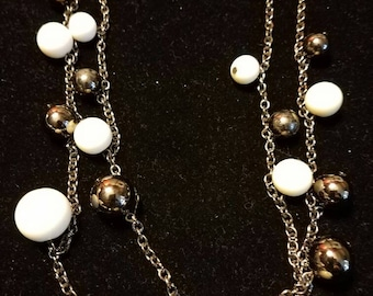 Kenneth J. Lane Beaded Double strand necklace vintage 70s