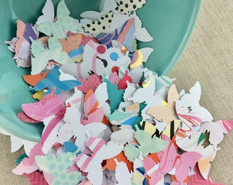 Recycled Butterfly Cut Outs, Butterfly Punches, 100 pcs, Recycled Paper, Rainbow, Spring, Showers, Favors, Tags, Die Cuts, Nature