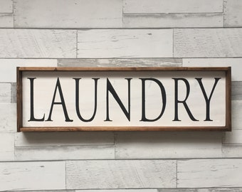 Laundry Sign, Rustic Sign, Wooden Sign, Farmhouse