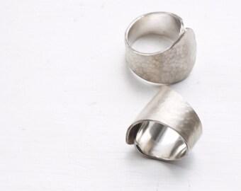 Textured sculptural ring