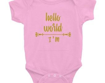 Custom Hello World Onesie