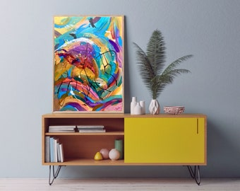Modern Abstract Art | Just Keep Dancing