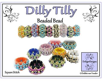 Beading Pattern, Tila Tutorial, Beaded Bead - DILLY TILLY
