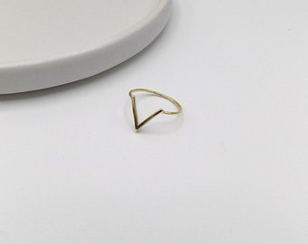 925 Sterling Silver Chevron Geometric Ring (11-3706)
