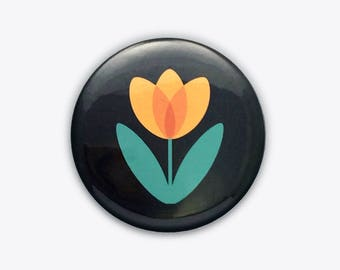 Yellow Tulip Pocket Mirror