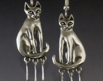 Cat and Mice Earrings
