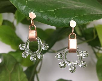 Chandelier glass bobble stud earrings