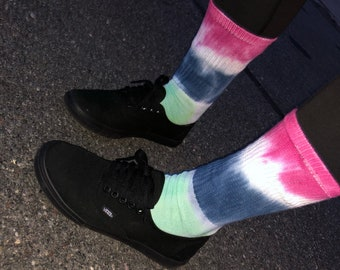 Tie Dye - Festival - Birthday - Athetic - Socks