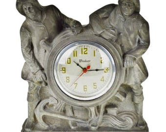 Art Deco Gibraltar Mantel Clock Nautical Mariner Theme
